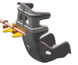 Back mounted Racetech seats